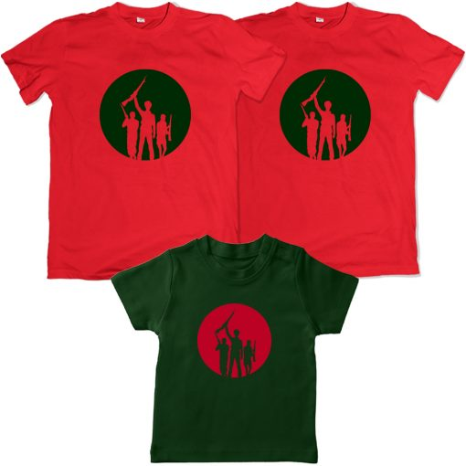 Independence-Day-Freedom-Family-Combo-Tees-Red-&-Green