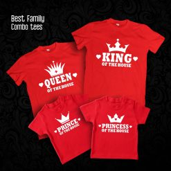 King-Queen-Prince-&-Princess-of-The-House-Family-Combo-Tees-Content