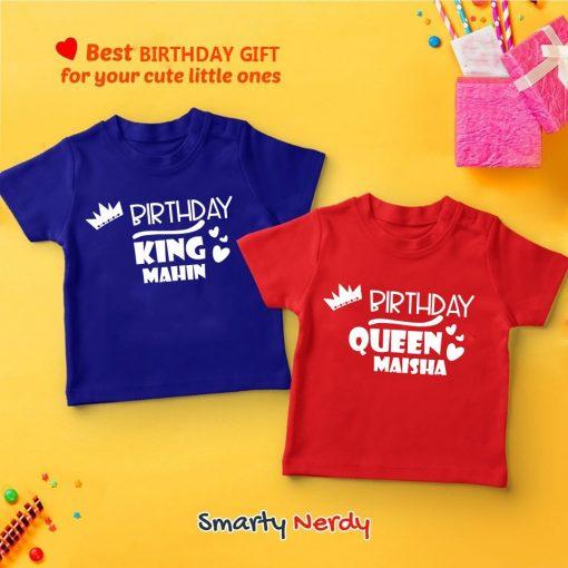Birthday king queen customized Tshirt bangladesh
