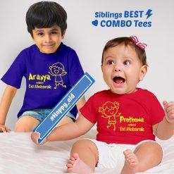 eid sibling tshirt romper cover