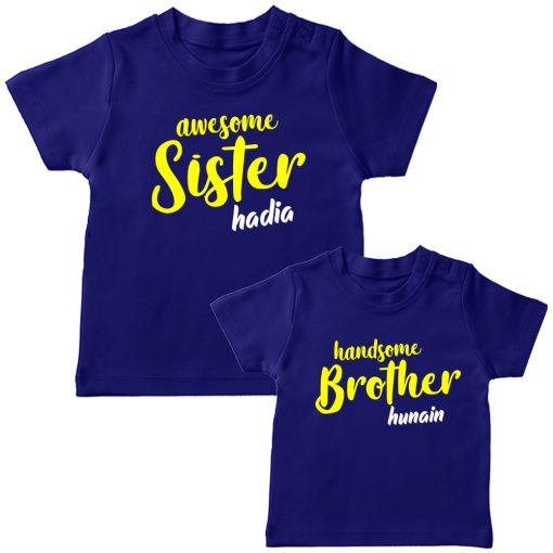 Awesome-&-Handsome-Brither-Sister-Siblings-Combo-T-Shirt-Blue