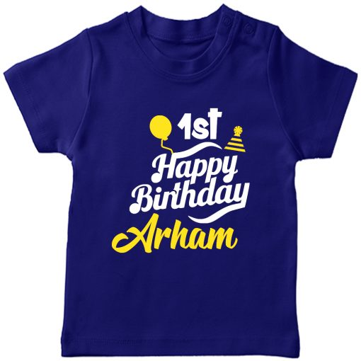 Birthday-Fabulous-T-Shirt-With-Customized-Name-Blue