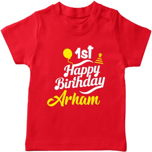 Birthday-Fabulous-T-Shirt-With-Customized-Name-Red