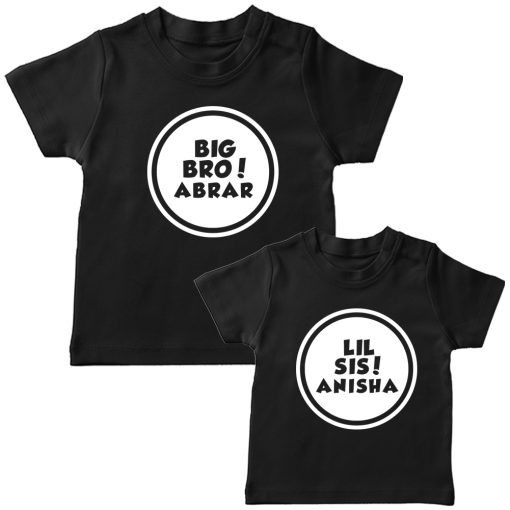Customized-Name-With-Circle-Siblings-TEES-Black