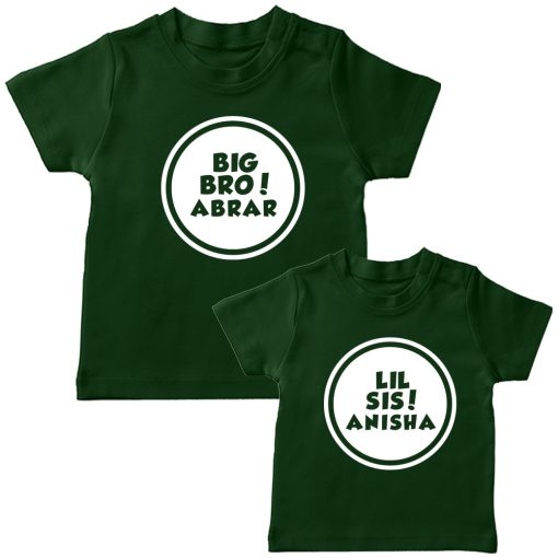 Customized-Name-With-Circle-Siblings-TEES-Green
