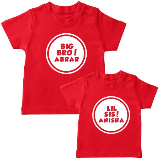 Customized-Name-With-Circle-Siblings-TEES-Red