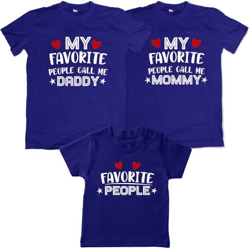 Favourite-To-Each-Other-Family-Combo-T-Shirt-Blue