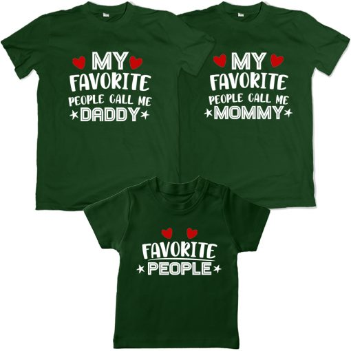 Favourite-To-Each-Other-Family-Combo-T-Shirt-Green