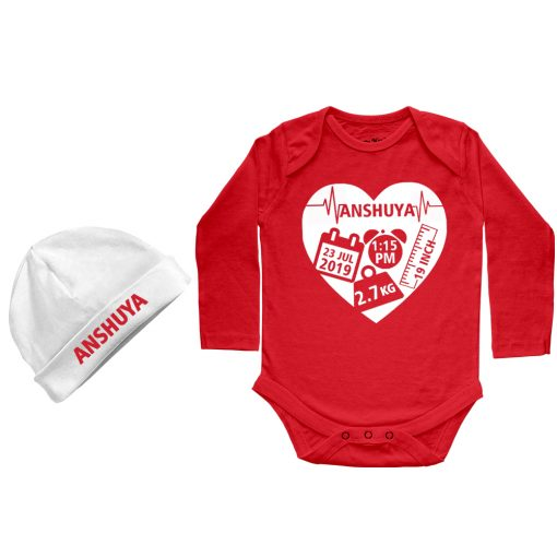Heart-Shape-Birthfact-Full-Sleeve-Baby-Romper-Red