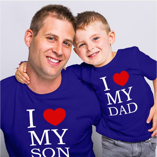 Loving-Dad-Son-Family-Combo-T-Shirt-Content