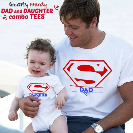 Super-Dad-And-Daughter-Family-Combo-T-Shirts-Content