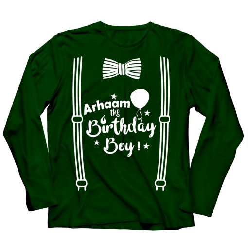 Wonderful-Birthday-Full-Sleeve-T-Shirt-Green