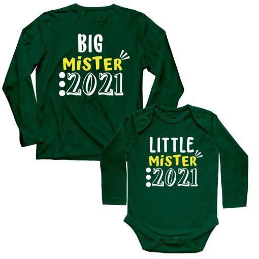 Big-&-Little-Mister-of-2021-Siblings-T-Shirt-Green