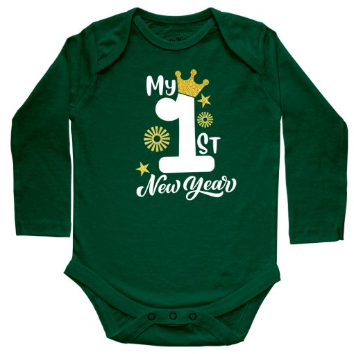 First-New-Year-Amazing-Baby-Outfit-Green-Full-Sleeve