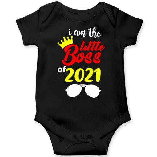 I'm-The-Little-Boss-Baby-Romper-Black