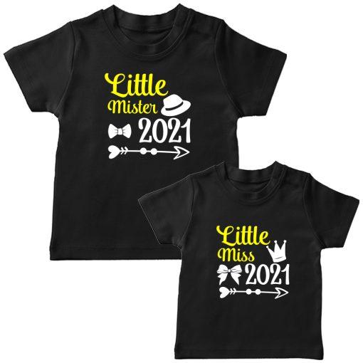 Little-Miss-&--Little-Mister-Siblings-Combo-T-Shirt-Black