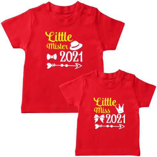 Little-Miss-&--Little-Mister-Siblings-Combo-T-Shirt-Red