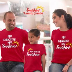 Mom-&-Dad's-Sunshine-Family-Combo-T-Shirt-Content
