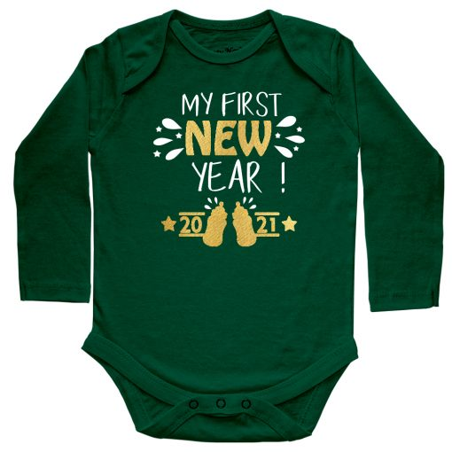 My-First-New-Year-2020-Baby-Romper-Green-Full