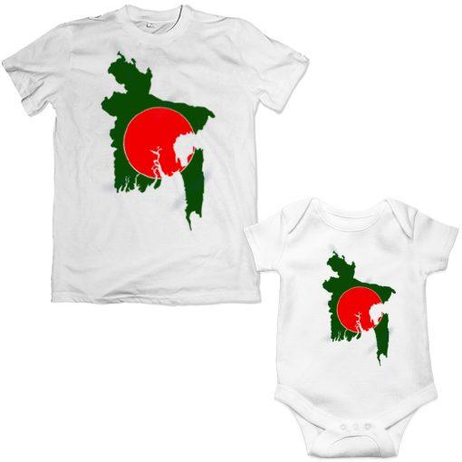 Victory-Day-Bangladesh-Beautiful-Map-Family-Combo-T-Shirt-White