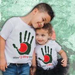 Victory-Day-Unique-Hand-Shape-Remark-Siblings-T-Shirt-Content