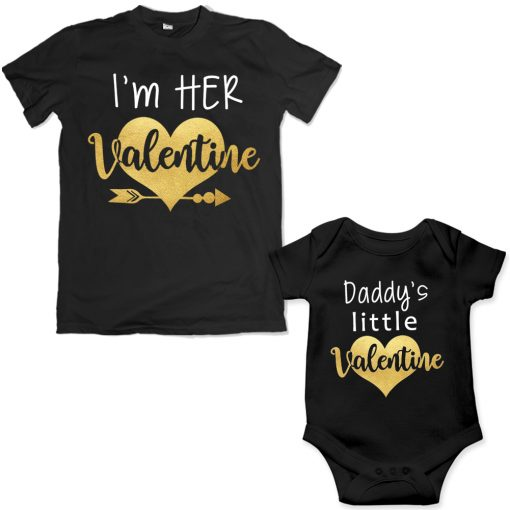 Daddy-&-Daddy's-Little-Princess-Valentine-Special-Combo-T-Shirt-Black