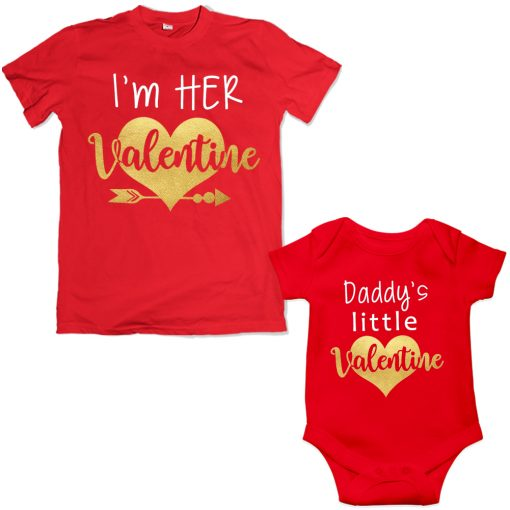 Daddy-&-Daddy's-Little-Princess-Valentine-Special-Combo-T-Shirt--Red