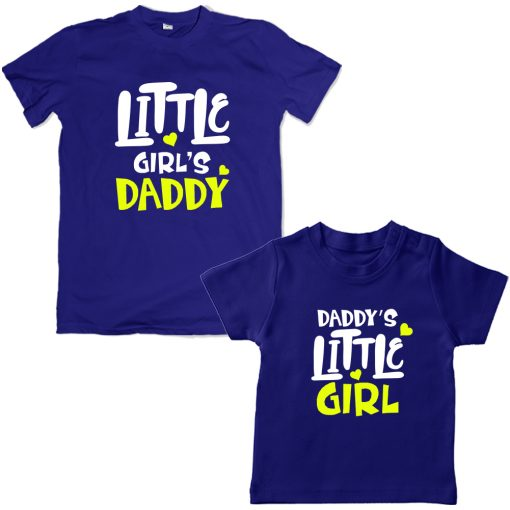 Daddy's-Little-Girl-Family-Combo-Unique-Design-Blue