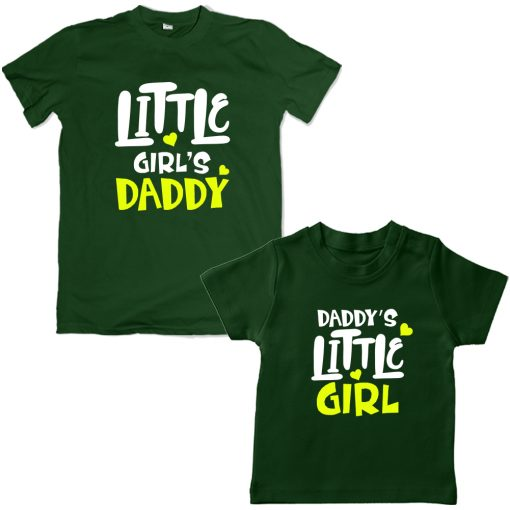 Daddy's-Little-Girl-Family-Combo-Unique-Design-Green