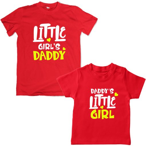 Daddy's-Little-Girl-Family-Combo-Unique-Design-Red