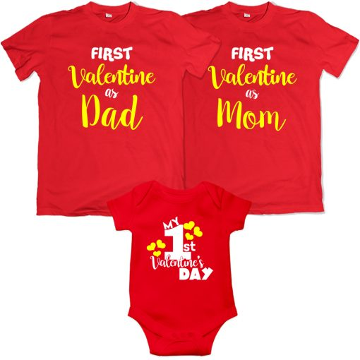 First-Valentine-Day-As-Family-Combo-T-Shirt-Red