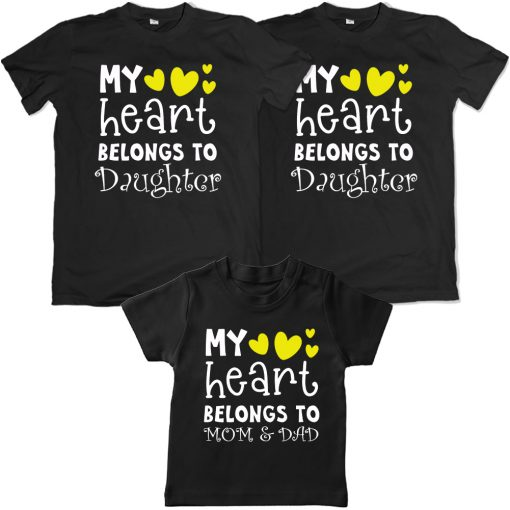 Heart-Belongs-To-The-Family-VALENTINE-DAY-Family-Combo-T-Shirt-Black