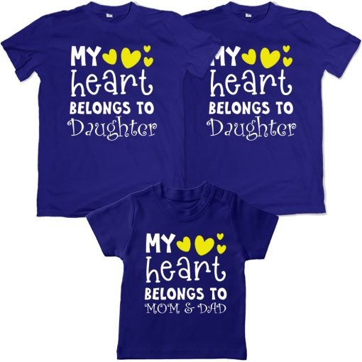Heart-Belongs-To-The-Family-VALENTINE-DAY-Family-Combo-T-Shirt-Blue