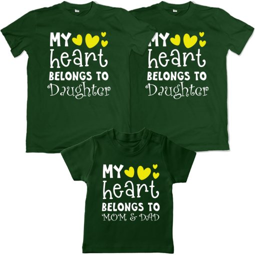 Heart-Belongs-To-The-Family-VALENTINE-DAY-Family-Combo-T-Shirt-Green