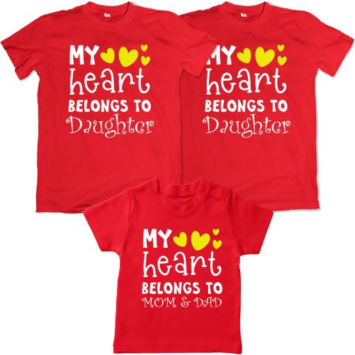 Heart-Belongs-To-The-Family-VALENTINE-DAY-Family-Combo-T-Shirt-Red