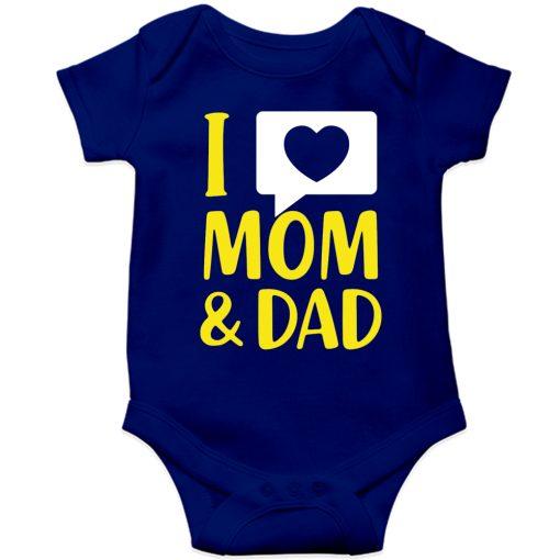 I-Love-Mom-&-Dad-Baby-Romper-Blue