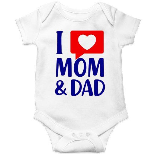 I-Love-Mom-&-Dad-Baby-Romper-White