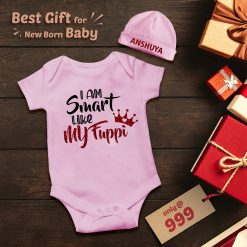 Smart-Like-Fuppi-New-Born-Baby-Romper-With-Beanie-Content