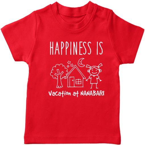 Vacation-At-NANA-&-DADA-Bari-Kids-T-Shirt-Red