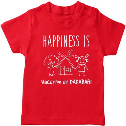 Vacation-At-NANA-&-DADA-Bari-Kids-T-Shirt-Red-dada