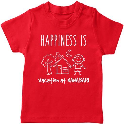 Vacation-At-NANA-&-DADA-Bari-Kids-T-Shirt-Red-nana