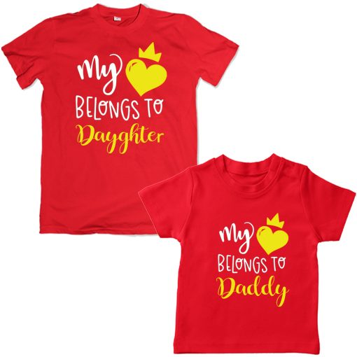 Valentine-Dad-&-Daughter-Family-Combo-T-Shirt--Red