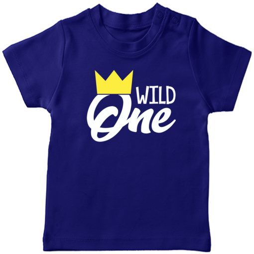 Wild-One-Birthday-Kids-T-Shirt-Blue