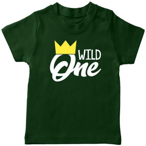 Wild-One-Birthday-Kids-T-Shirt-Green