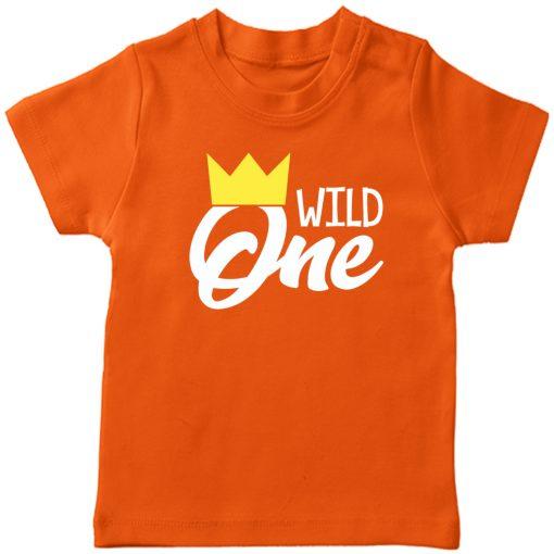 Wild-One-Birthday-Kids-T-Shirt-Orange