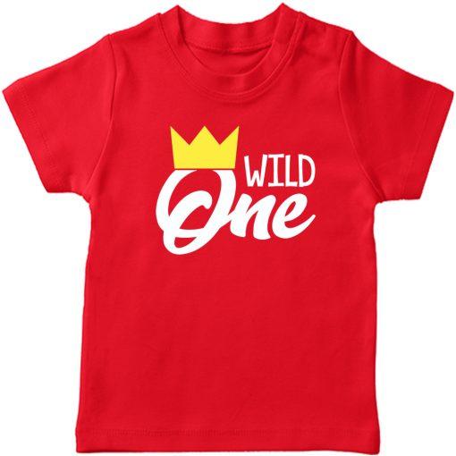 Wild-One-Birthday-Kids-T-Shirt-Red
