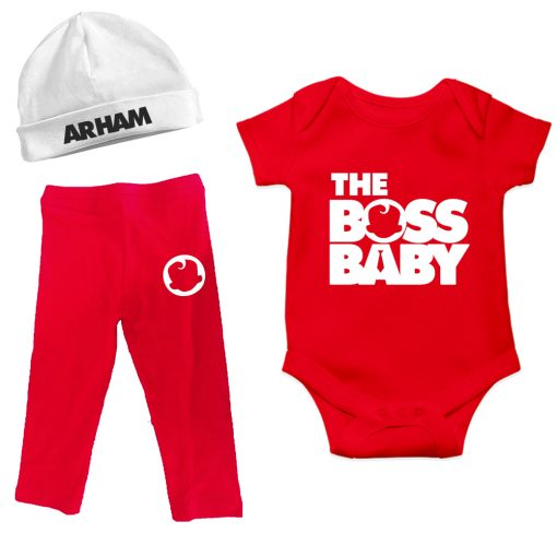Winter-Combo-New-Born-Boss-Baby-Romper-Set-Red