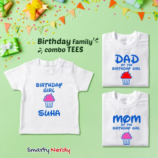 Family Birthday Celebration Combo T Shirt