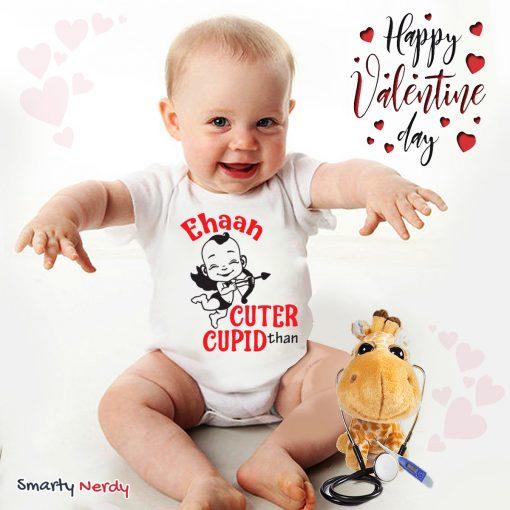 Cuter than cupid baby romper