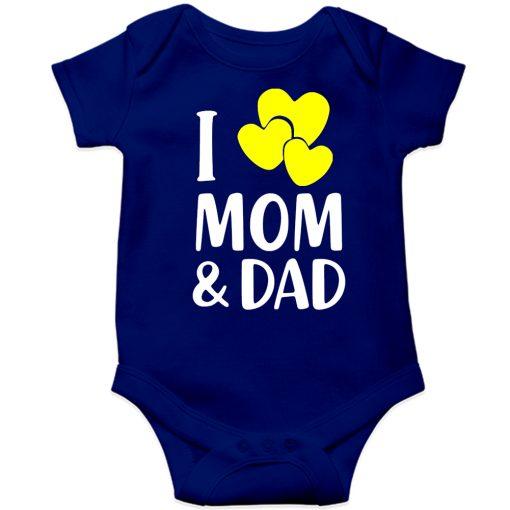 I-Love-Mom-&-Dad-Loving-Parents-Baby-Romper--Blue